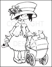 Marianne design -  Clear stamp - HM9443 - Clear Stamp - Walking with bab