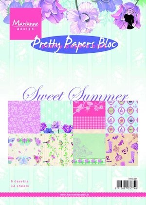 Marianne design - Paperpad - Pretty Papers Bloc Sweet Summer - pk9081