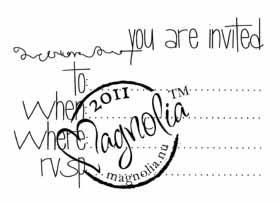 Magnolia stamps - Princes and Princesses - PP 35 - You Are invited