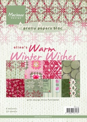 Marianne Design - Pretty paperbloc - Eline`s warm winter wishes - PB7039