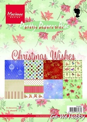 Marianne Design - Paperpad - PK9087 Christmas wishes