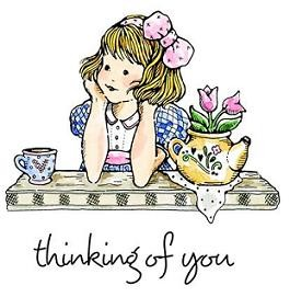 Penny Black stempel (cling) - thinking of you
