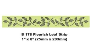 Cheery Lynn Designs snijmallen - B178 - flourish leaf strip