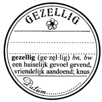 Catslife Press Unmounted Stamp - 906f - gezellig seal