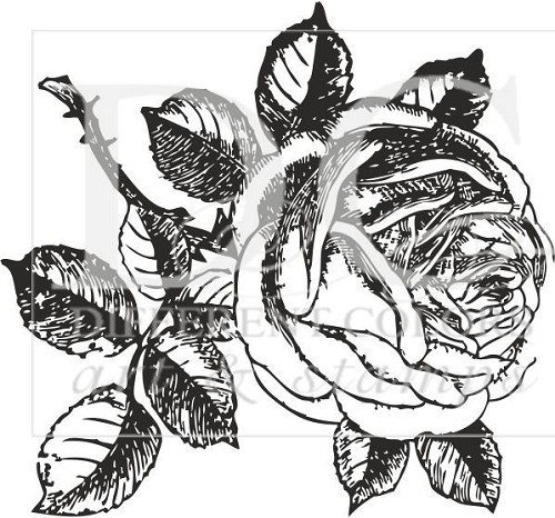 Houten stempel - roses for you