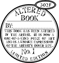 Catslife Press stempels - Altered Book seal 302f