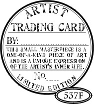 Catslife Press stempels - Artist Trading card seal - 537F