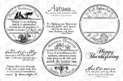 Autumn letter seals - whimsy stempels