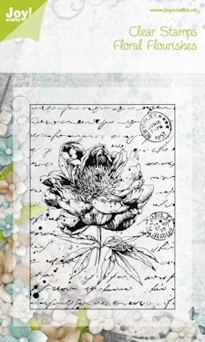 Joy! Crafts - Clearstamp - Old Letter Rose nr. 1