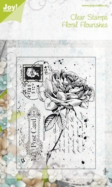 Joy! Crafts - Clearstamp - Old Letter Rose nr. 2