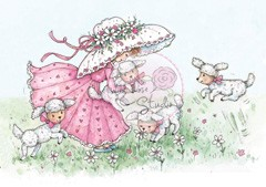 Wild Rose - Annabelle with lambs
