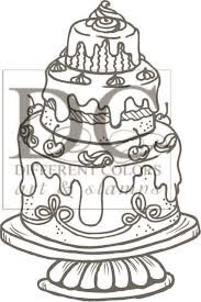 chocolate cake - stempel different colors