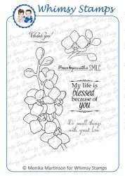 Whimsy stempel - Momas - Lovely Orchids