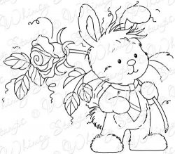 Whimsy stempel - Wee - Bunny