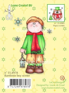 Clear stamp Bambini boy winter
