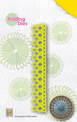 Nellie`s Rosette Folding Die sharp point