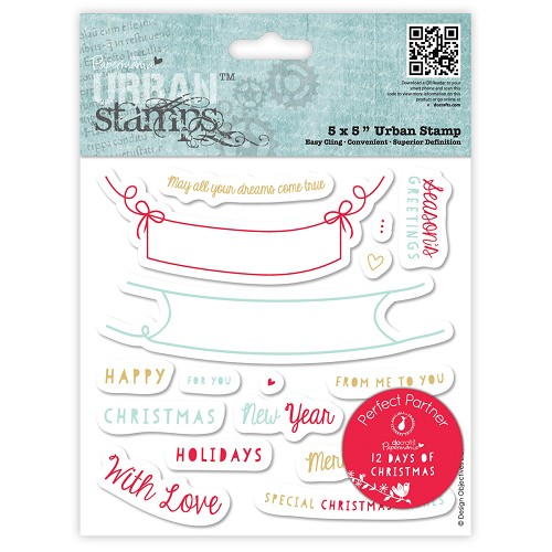 5 x 5 Urban Stamp - 12 Days of Christmas - Word Banner