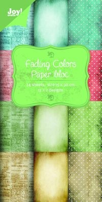 Joy! papierblok 15x30 fading colors