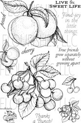 cherries and peaces - flourishes stempel
