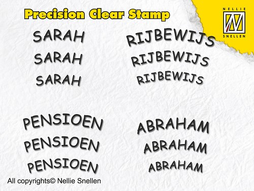 Precision clear stamps Dutch Texts-1