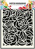 Dutch Doobadoo Dutch Mask Art stencil Big Roses A5
