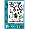 Sheena A little but sketchy a6 stamp - grass