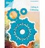 Joy Crafts - Cutting & Embossing - Blauwe mal - rond