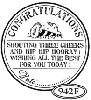 Catslife Press Unmounted Stamp - 942 F Congratulations seal
