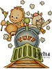 Bildmalarna stempel - baby train