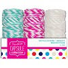 20m Bakers Twine (3pcs) - Capsule - Spots & Stripes Summer Brights