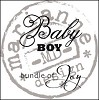 Clear stamp baby boy UK - Marianne Design