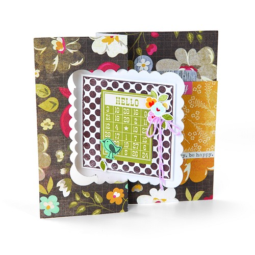 Snijmal Sizzix Movers & Shapers L Die Card, Scallop Square Flip- 658842 Stephanie Barnard