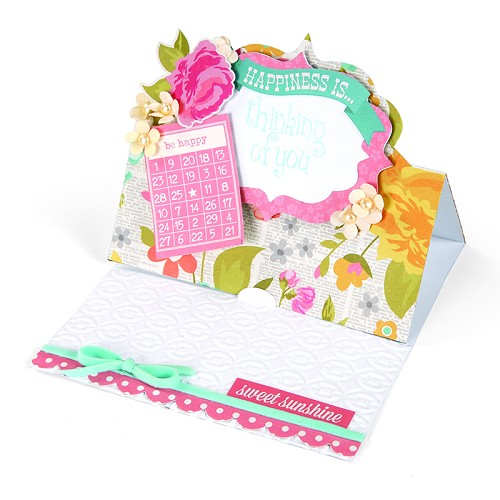 Snijmal Sizzix Movers & Shapers XL Die Card, Fancy Label Stand-U 658844 Stephanie Barnard