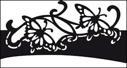 Craftables stencil butterfly Marianne Design