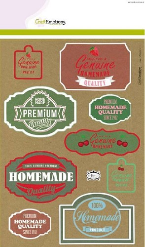 CraftEmotions Kraft paper design Fifties Kitchen 4 vel A4