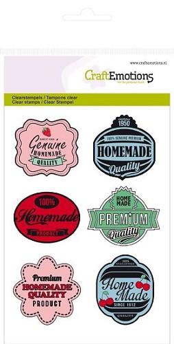Clear Stamp CraftEmotions - Fifties Kitchen - A6 Labels