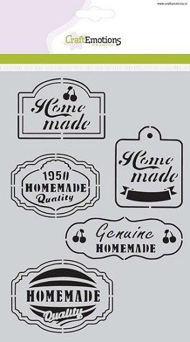 CraftEmotions Mask stencil Fifties Kitchen labels A5