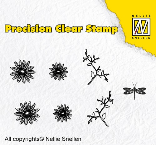 Precision clear stamps Nature marguerite