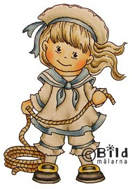 Bildmalarna stempel - Sailor girl