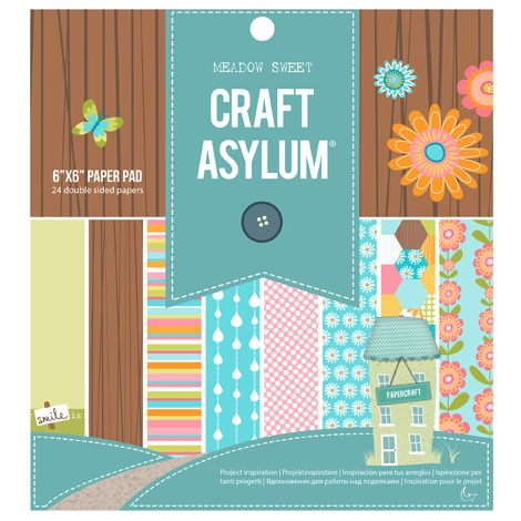 Craft Asylum Meadow Sweet Paperpad 26 sheets 15,2x15,2cm 480289 - double sided sheets
