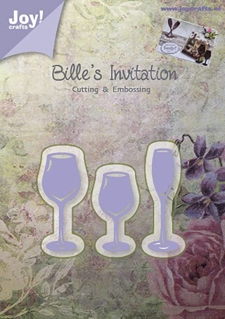 Bille`s Invitation glazen - snijmal Joy!Crafts
