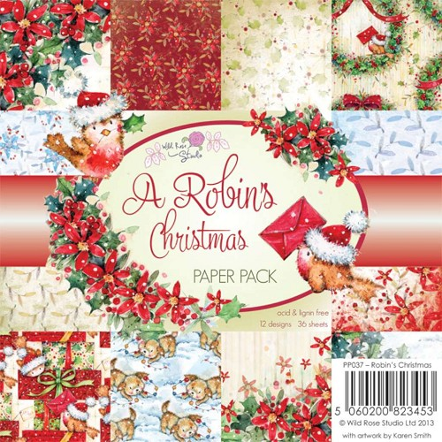 Wild Rose Studio - paperpad - a robins christmas