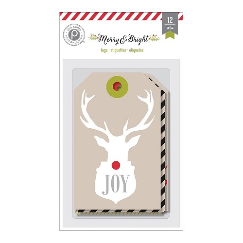 Merry & Bright Kraft Tags