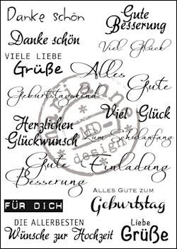 Clear stamp Deutsche text- Marianne Design