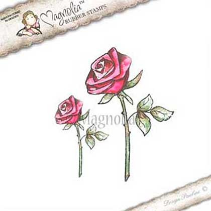 Magnolia stempel - Lovely Duo collectie - Lovely roses