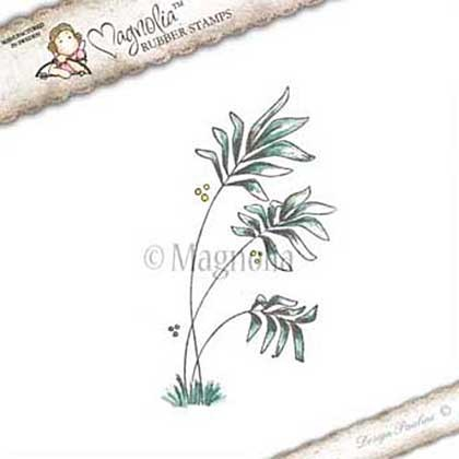 Magnolia stempel - Lovely Duo collectie - aloha palm