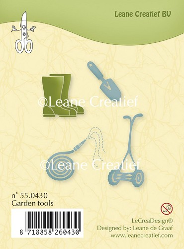 Clear stamp Garden tools