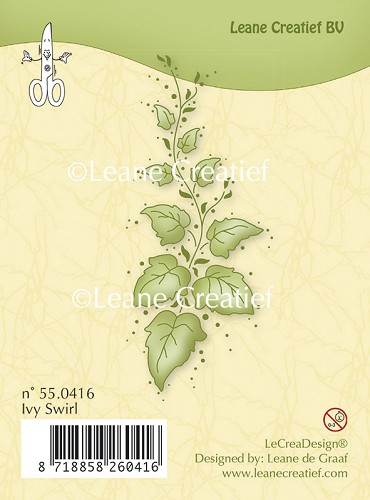Clear stamp Ivy swirl