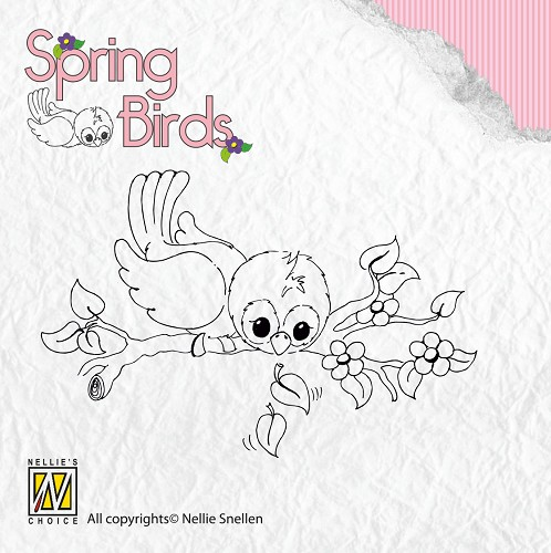 Clear stamps Spring-birds Ready to fly away
