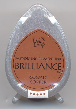 Brilliance Dew Drops inkpads Cosmic copper
